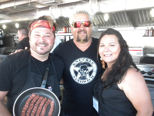 Best of Baconfest Amateur Chef Winners Shawn Crary & Michelle Klasser with Guy Fieri