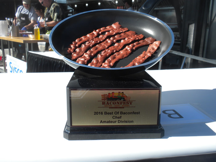 2016 Best of Baconfest Amateur Chef Amateur Division Trophy